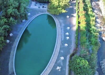 drone piscina